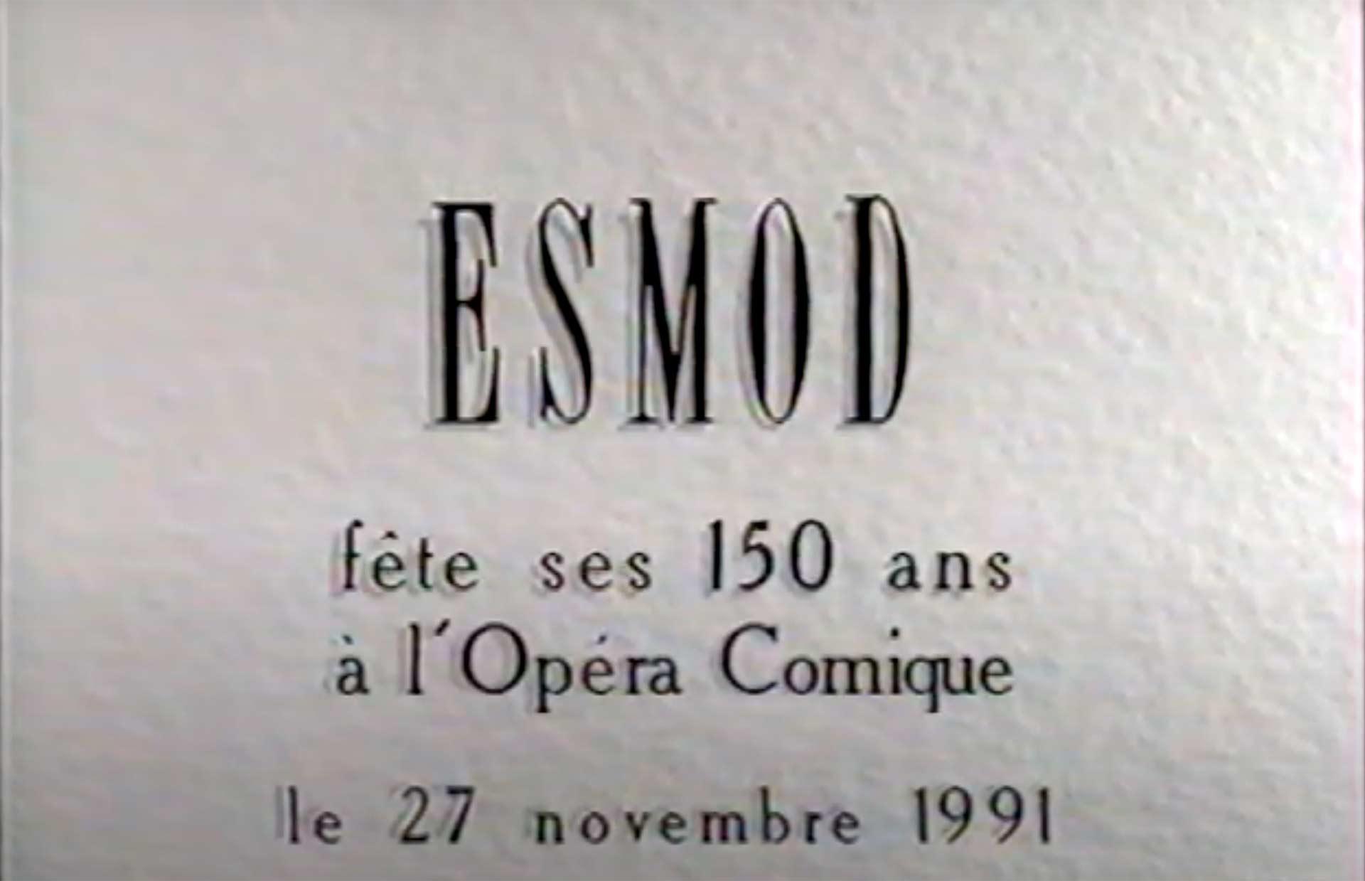 150 ans d'ESMOD à l'Opéra Comique à Paris en 1991.